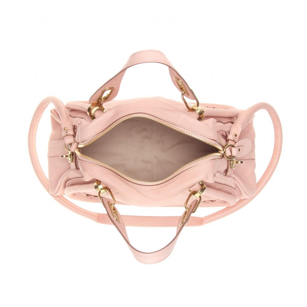 Chlo¨¦ Paraty Medium Leather Shoulder Bag in Pink (anemone pink ...