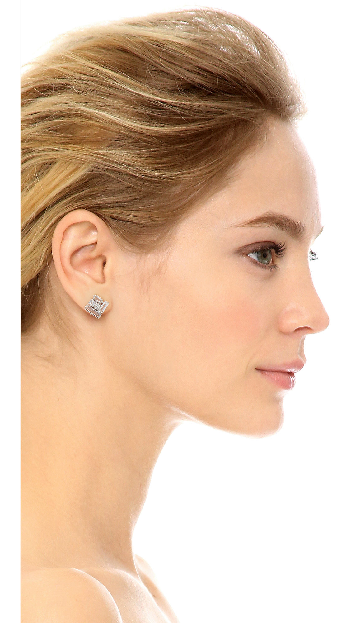 Kate spade new york Catching Light Studs Earrings - Clear in ...