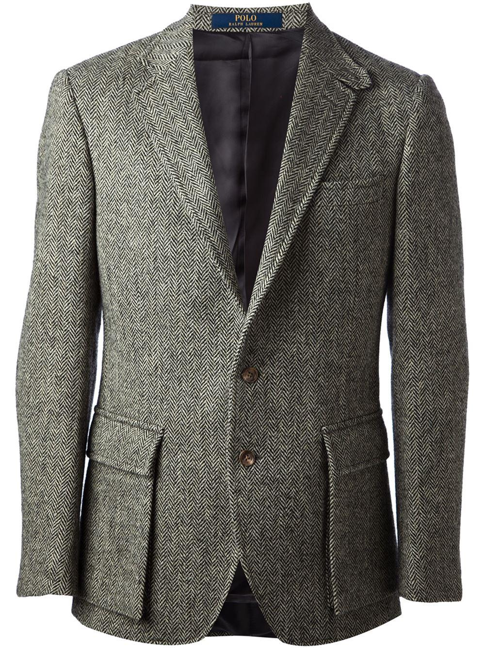 Lyst Polo Ralph Lauren Tweed Blazer In Green For Men
