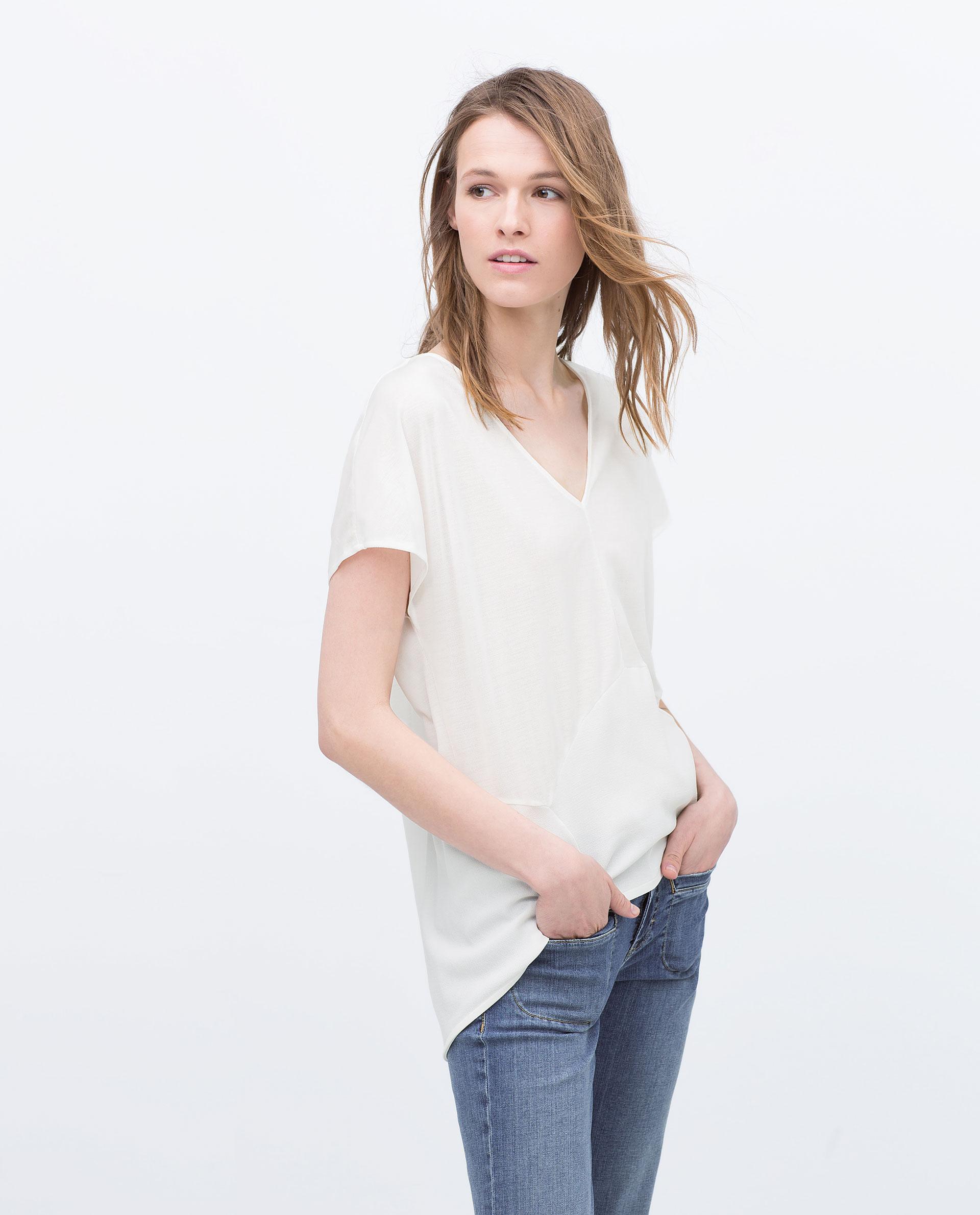 Zara Shirt Style Blouse 26