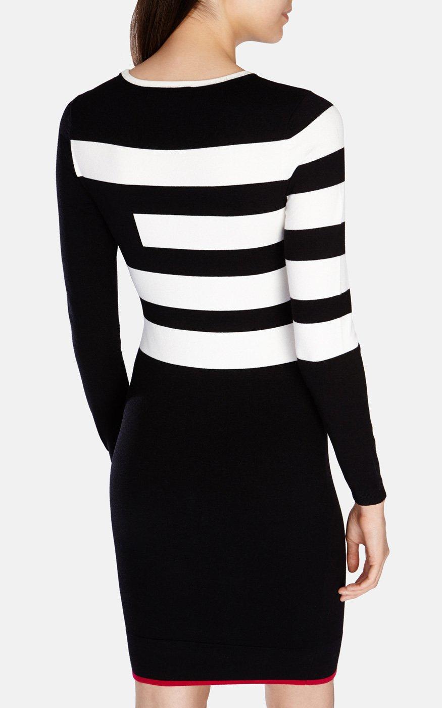 d489a10e4b707 Karen Millen Block Stripe Stretch Knit Dress - Lyst