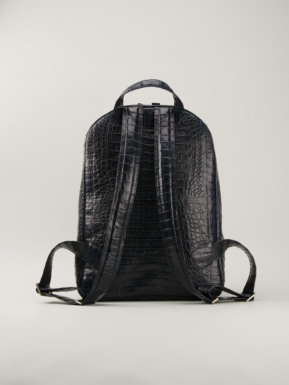 Nancy gonzalez Crocodile Leather Backpack in Blue for Men | Lyst
