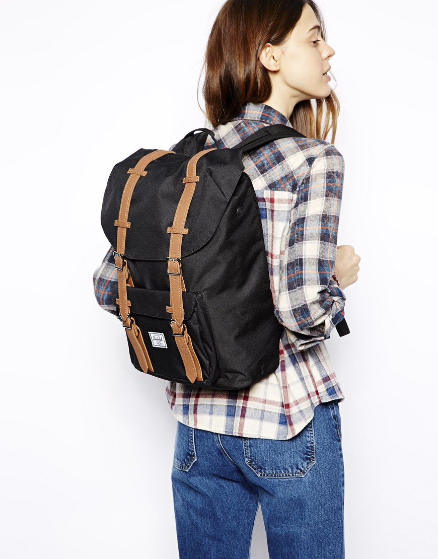 d610ea9e5b Lyst - Herschel Supply Co. Little America Backpack Mid Volume in Black