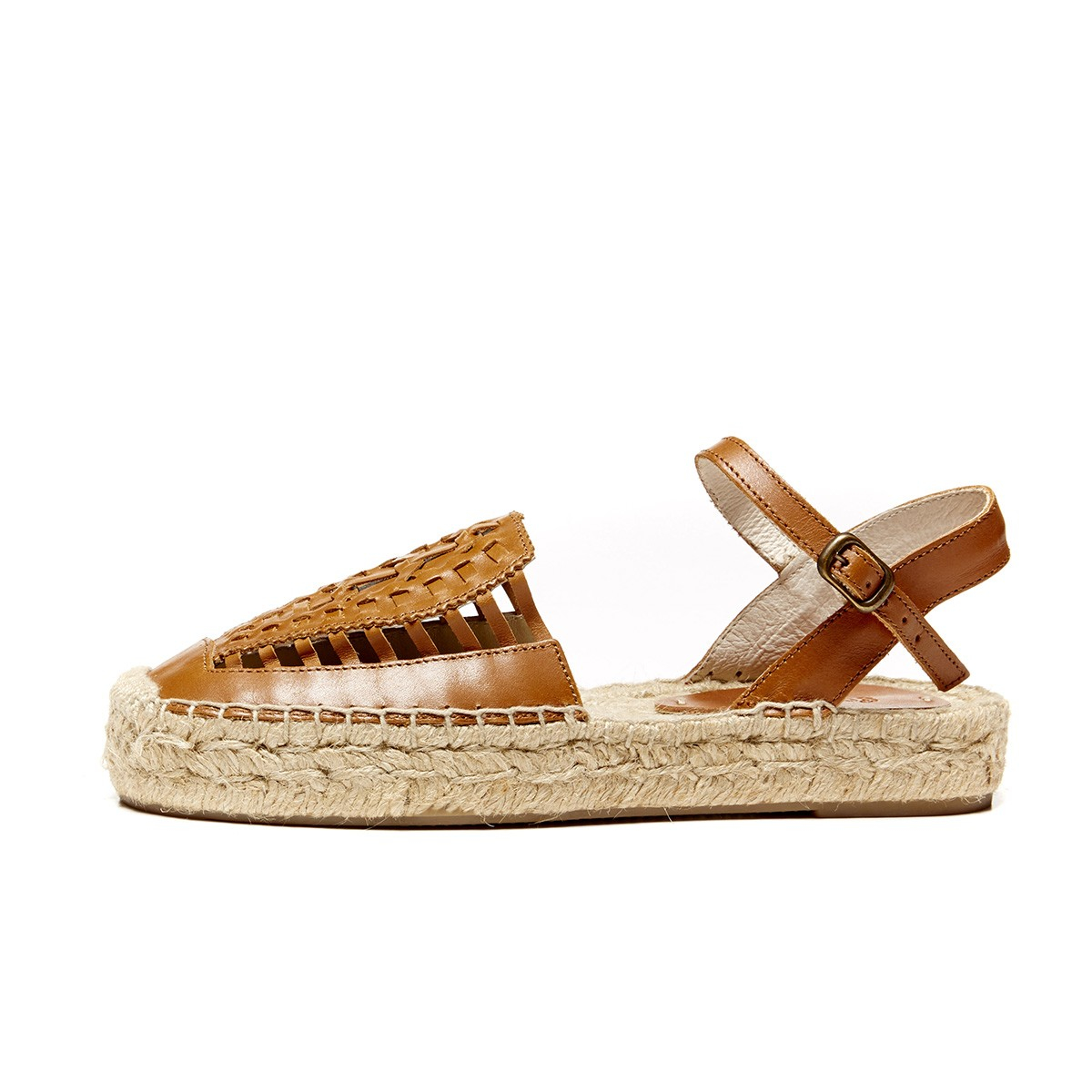 7083858e3c17 Lyst - Soludos Leather Platform Huarache Sandal in Brown