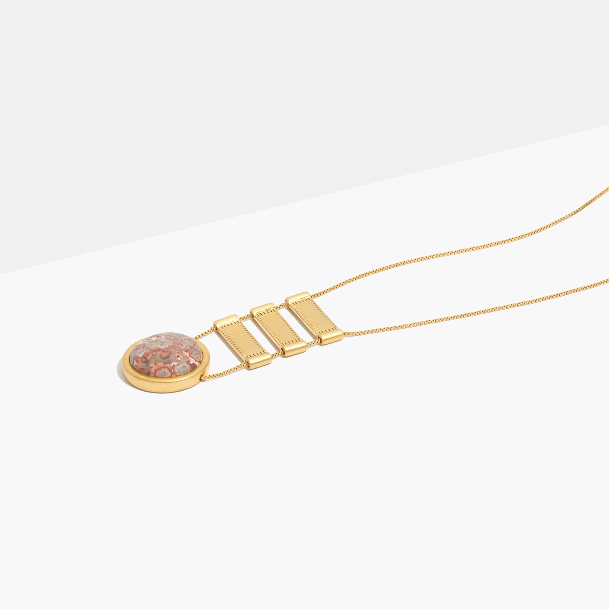 gold necklace by tier katsumi cornflake and heavy pin pearls chain plated alirussellcollection