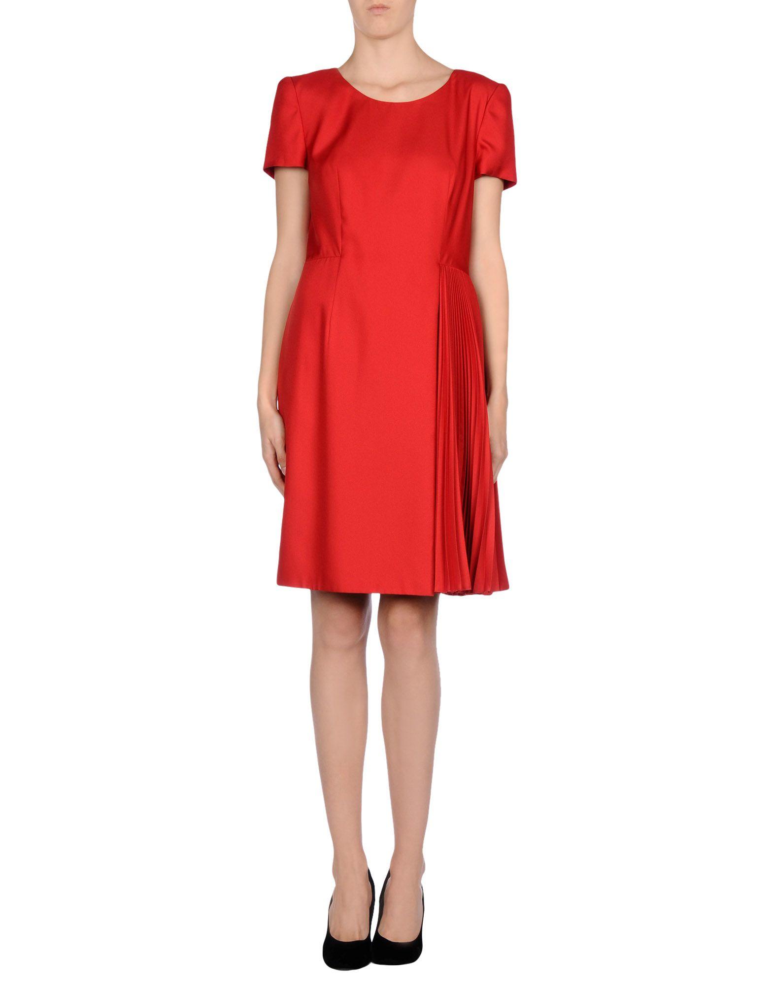 lyst prada kneelength dress in red