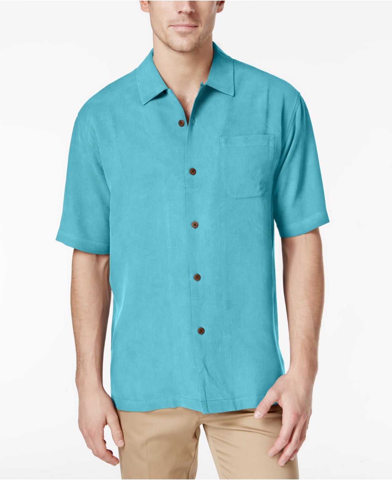 Lyst - Tommy Bahama Big And Tall Men\'s Rio Fronds Silk Short-sleeve ...