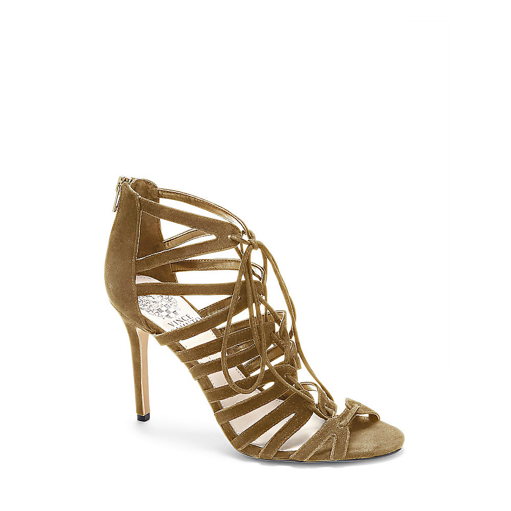 Vince Camuto Zayna Strappy Lace Up High Heel Sandal In