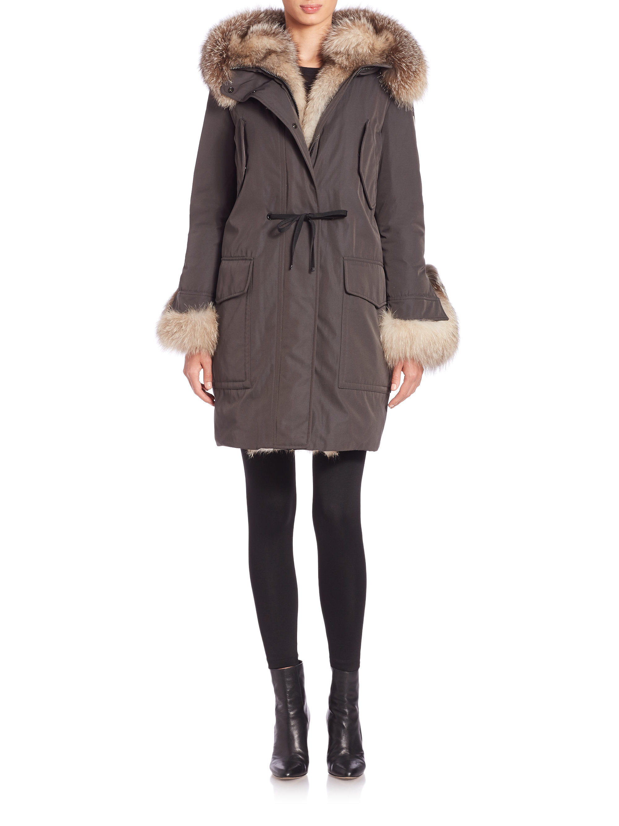bfc2f901a germany moncler coat fur trim b0e52 e2e0a
