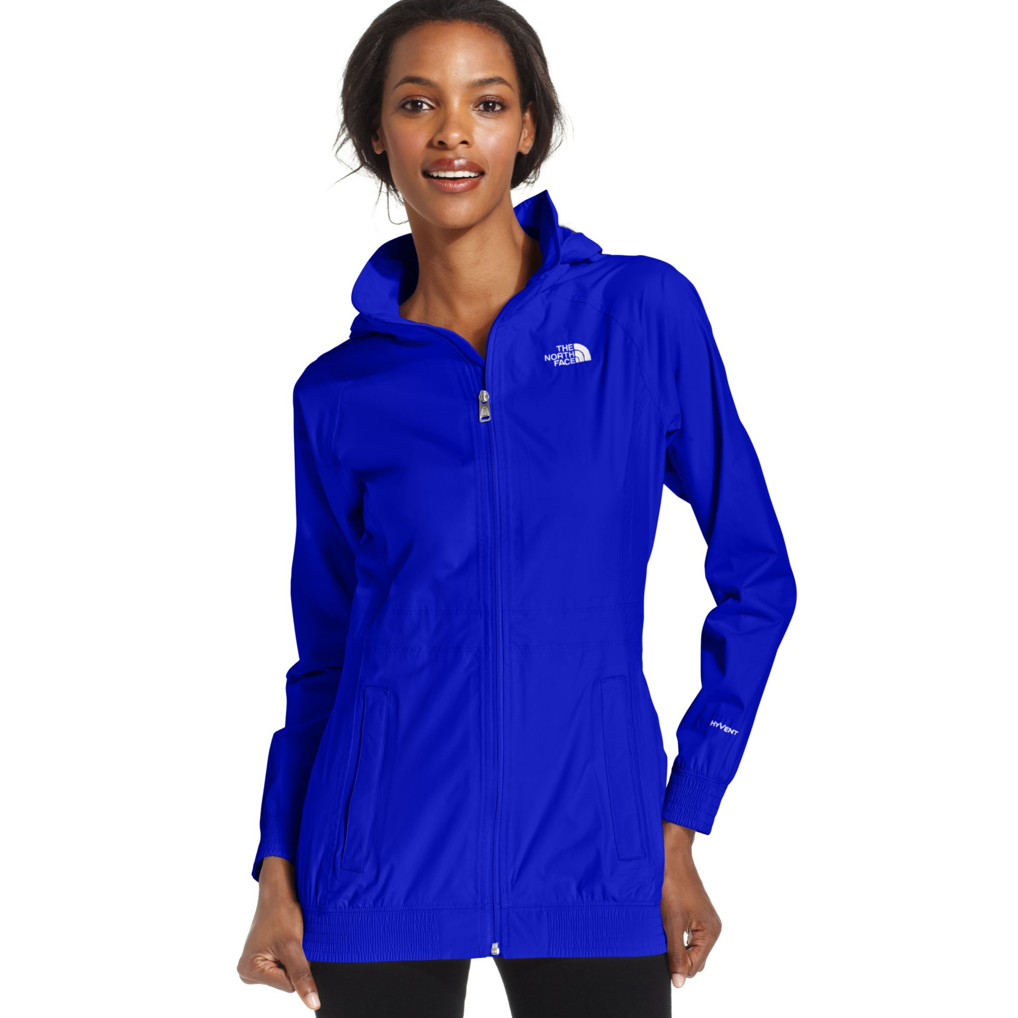 The north face Sereyna Hooded Rain Jacket in Blue | Lyst