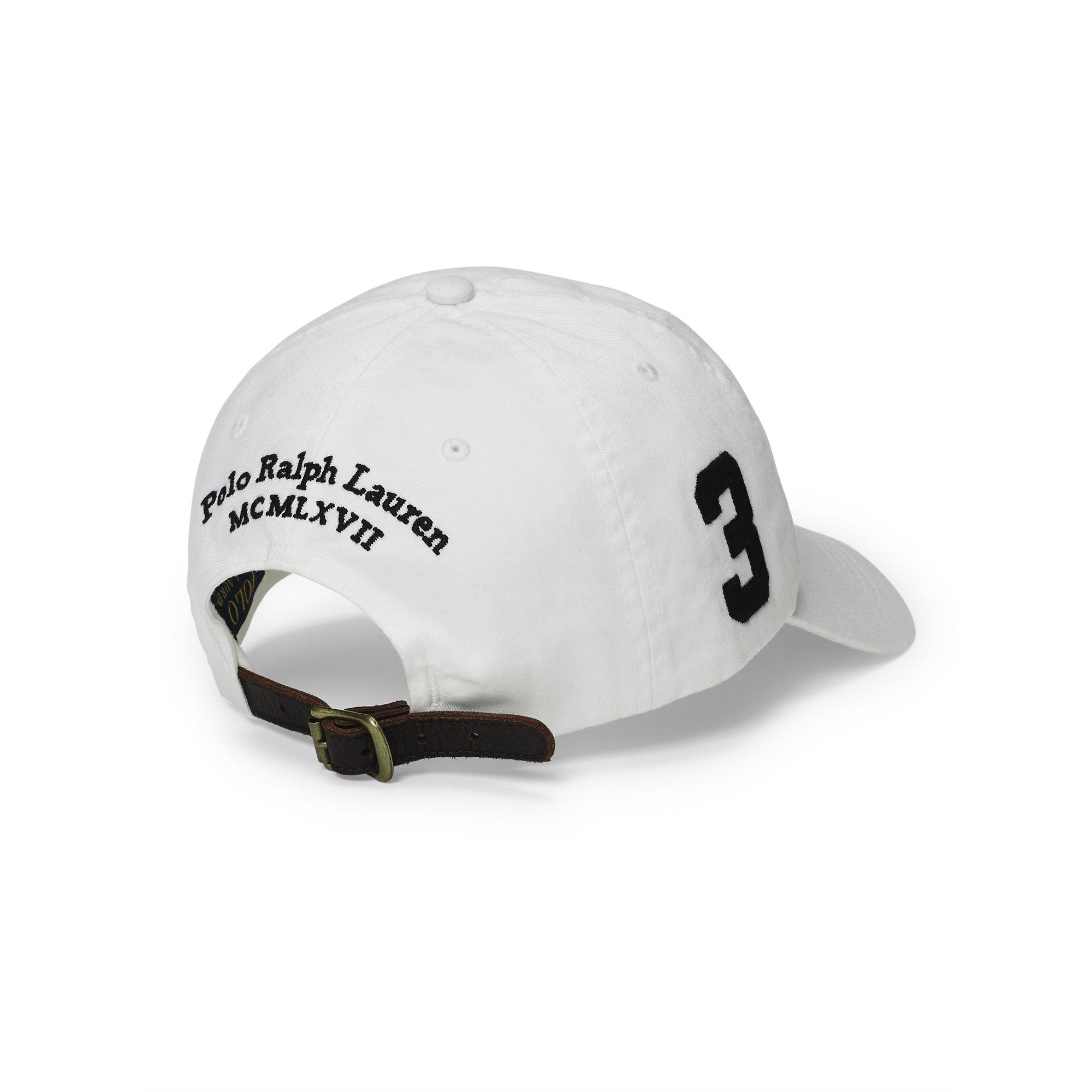 995795f5e Polo Ralph Lauren Chino Baseball Cap in White for Men - Lyst