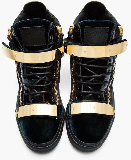 Giuseppe Zanotti Ssense Exclusive Green Velvet Sneakers in ...