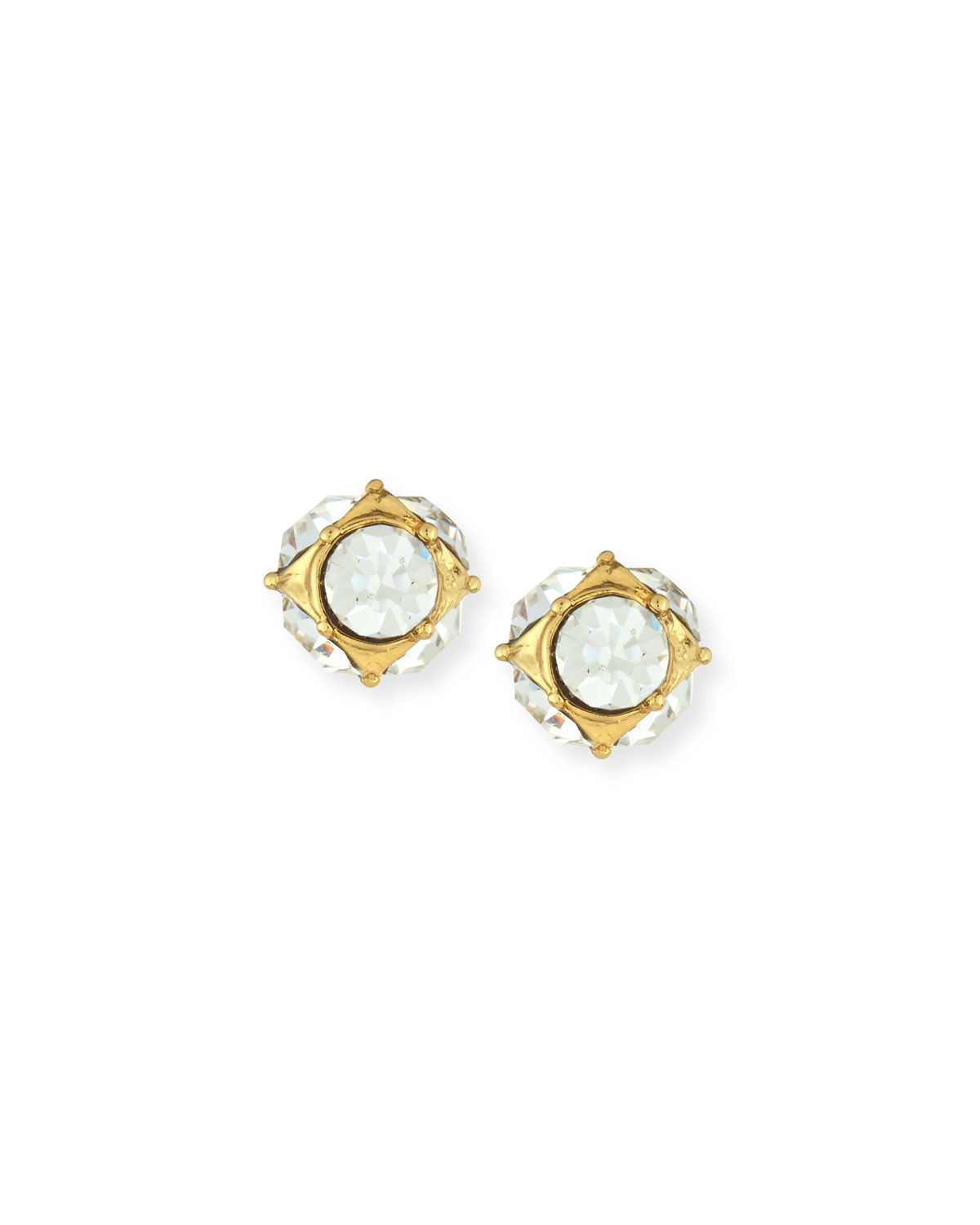 649547c77 Kate Spade Lady Marmalade Rhinestone Ball Stud Earrings in Metallic ...