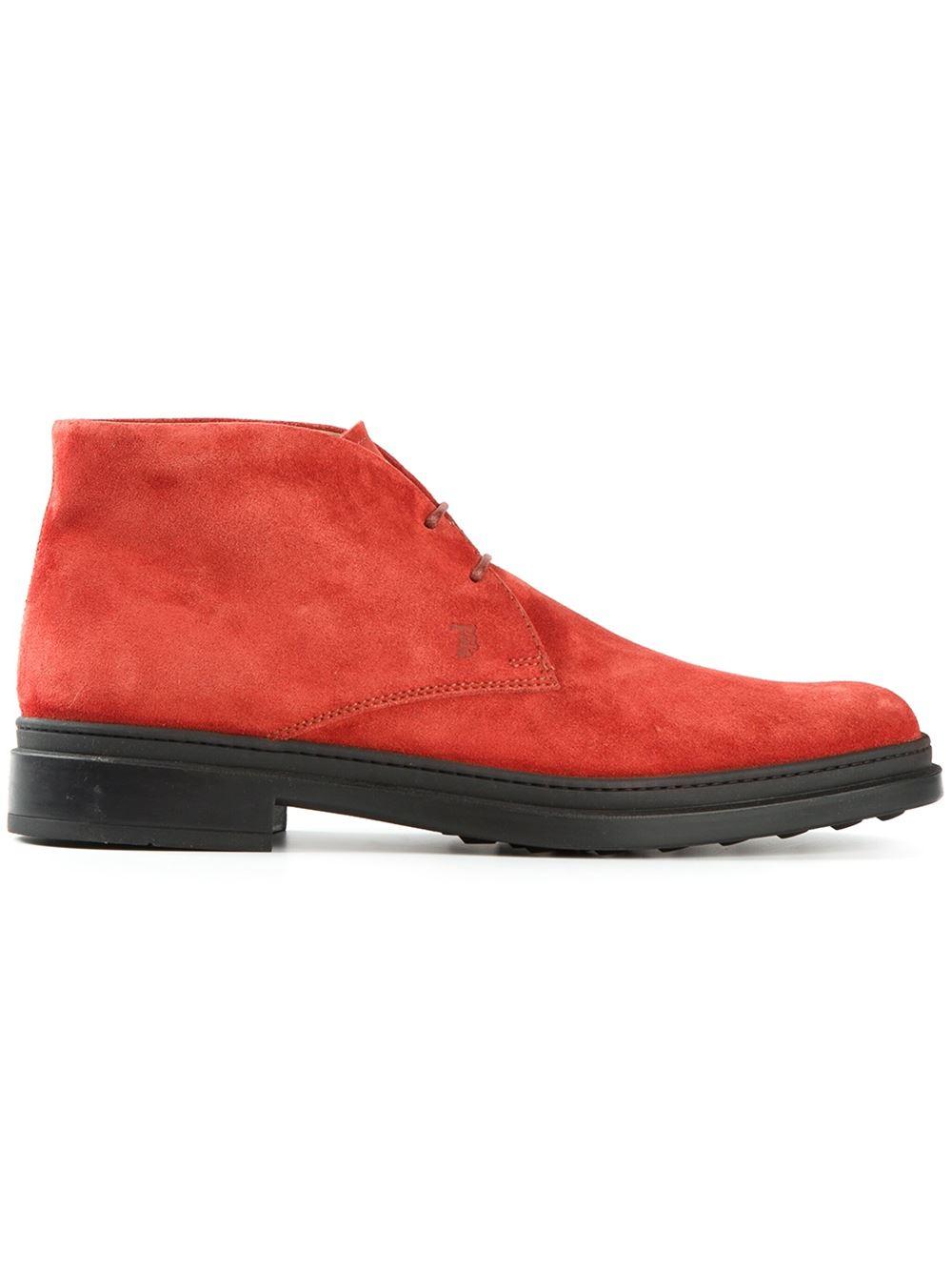 tod 39 s classic desert boots in orange for men yellow orange lyst. Black Bedroom Furniture Sets. Home Design Ideas