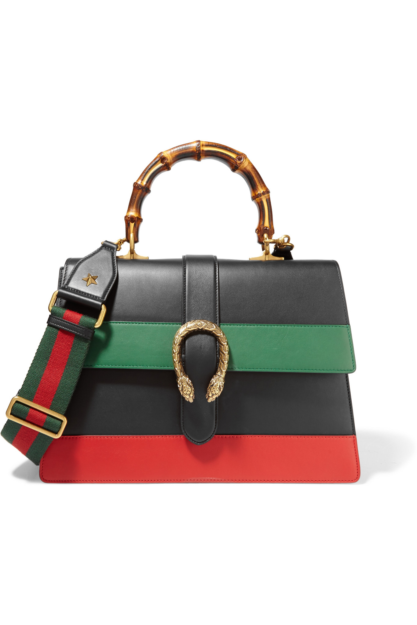 1747aca68906 Gucci Dionysus Large Paneled Leather Shoulder Bag in Black - Lyst