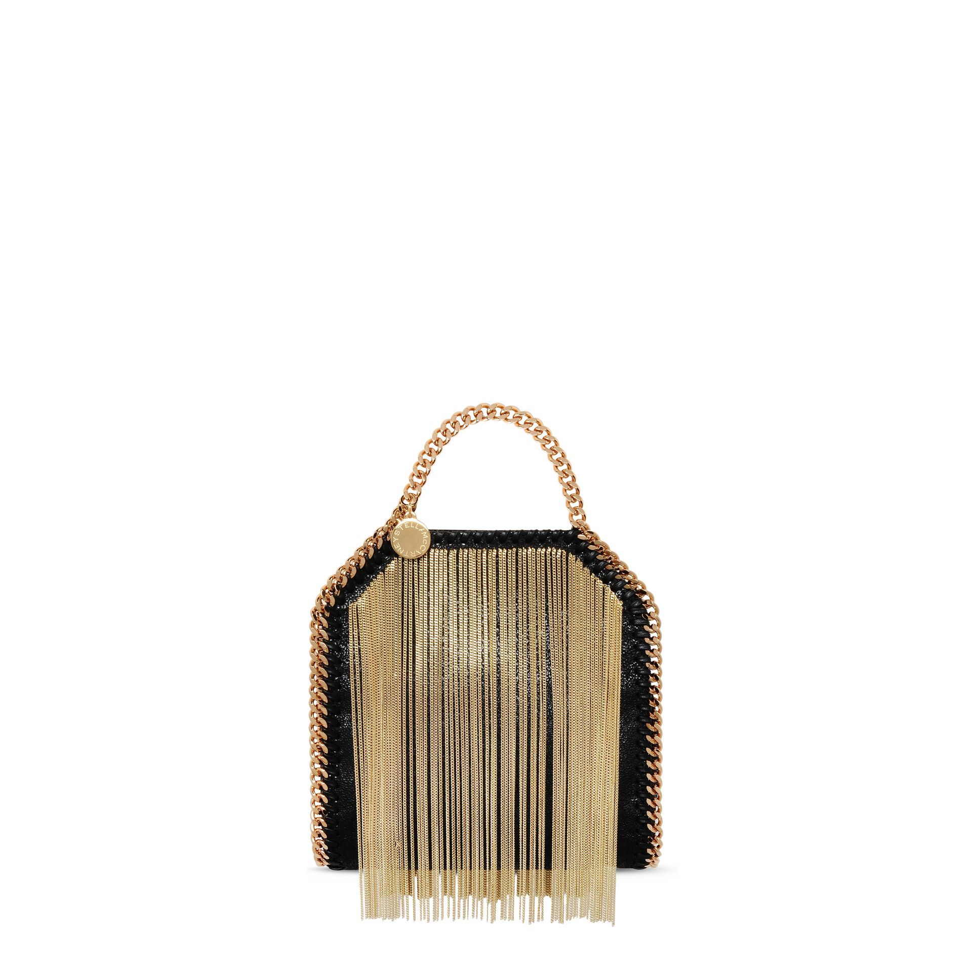 c045be3f089f Stella McCartney Falabella Chain Fringed Tiny Tote in Metallic - Lyst