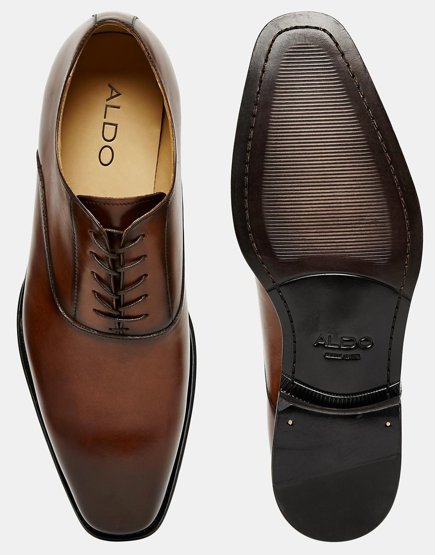 Lyst Aldo Adilama Leather Shoes In Brown For Men