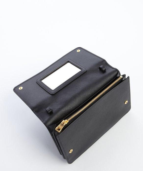 Prada Black Leather Convertible Crossbody Wallet in Black   Lyst