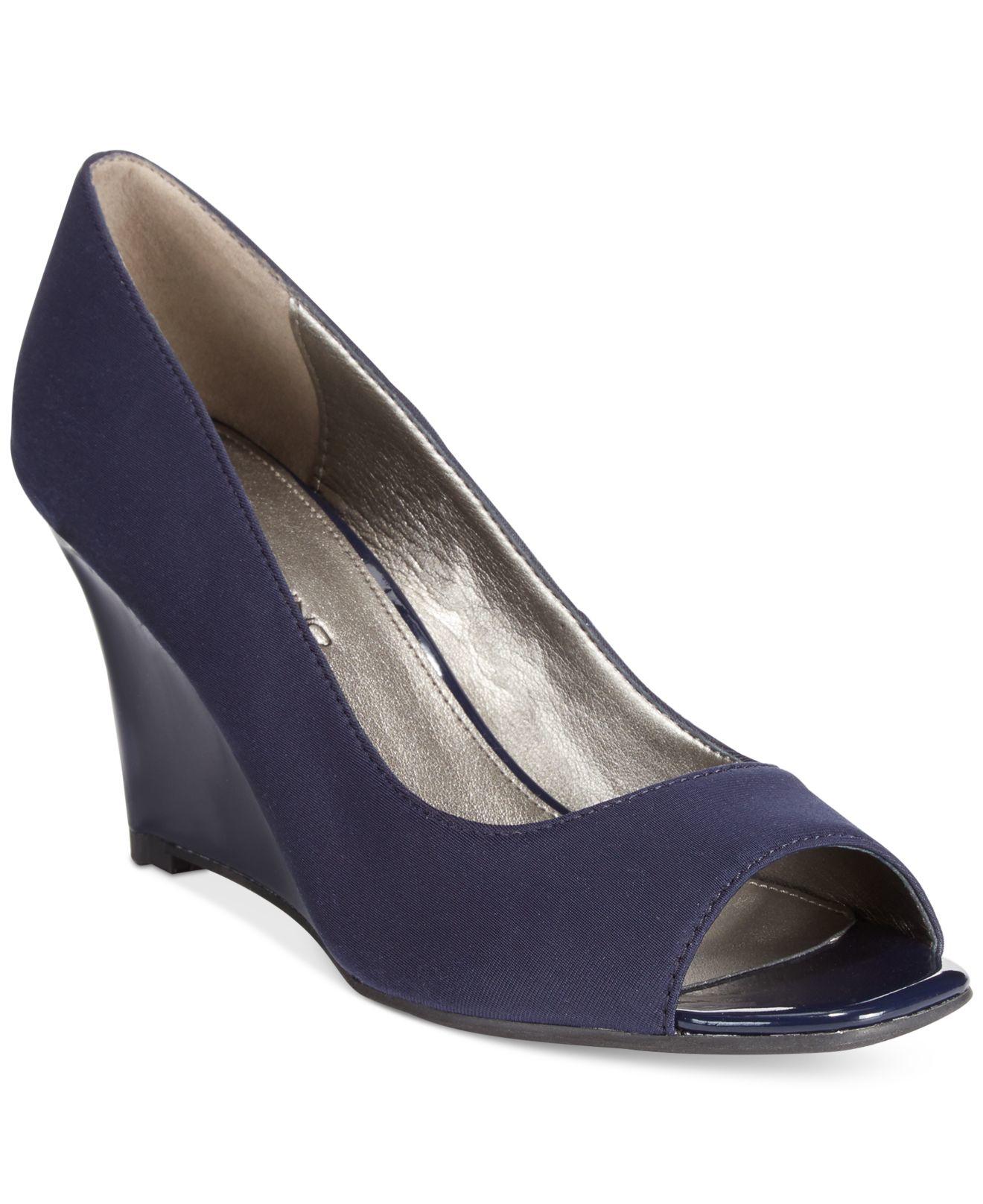 a93172479d1 Lyst - Bandolino Jamila Peep-toe Pumps in Blue