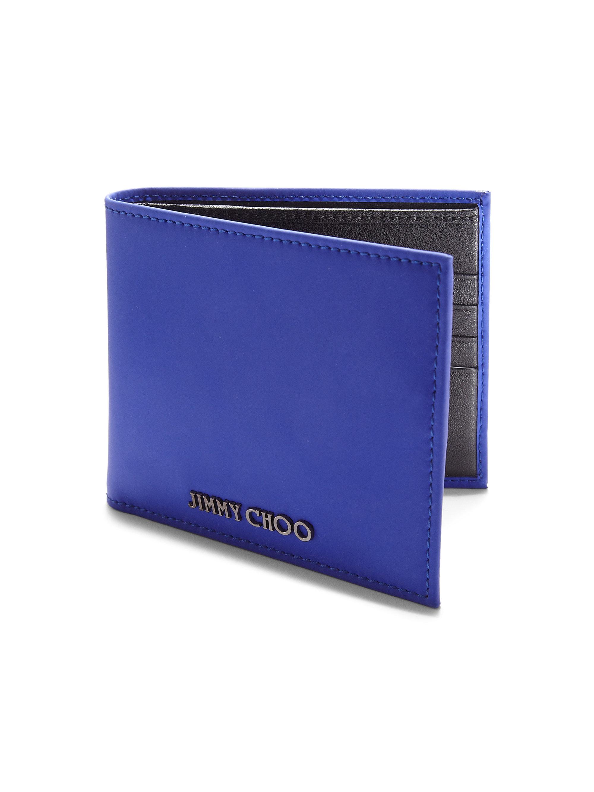 fb3e17b380 Jimmy Choo Mark Leather Billfold Wallet in Blue for Men - Lyst
