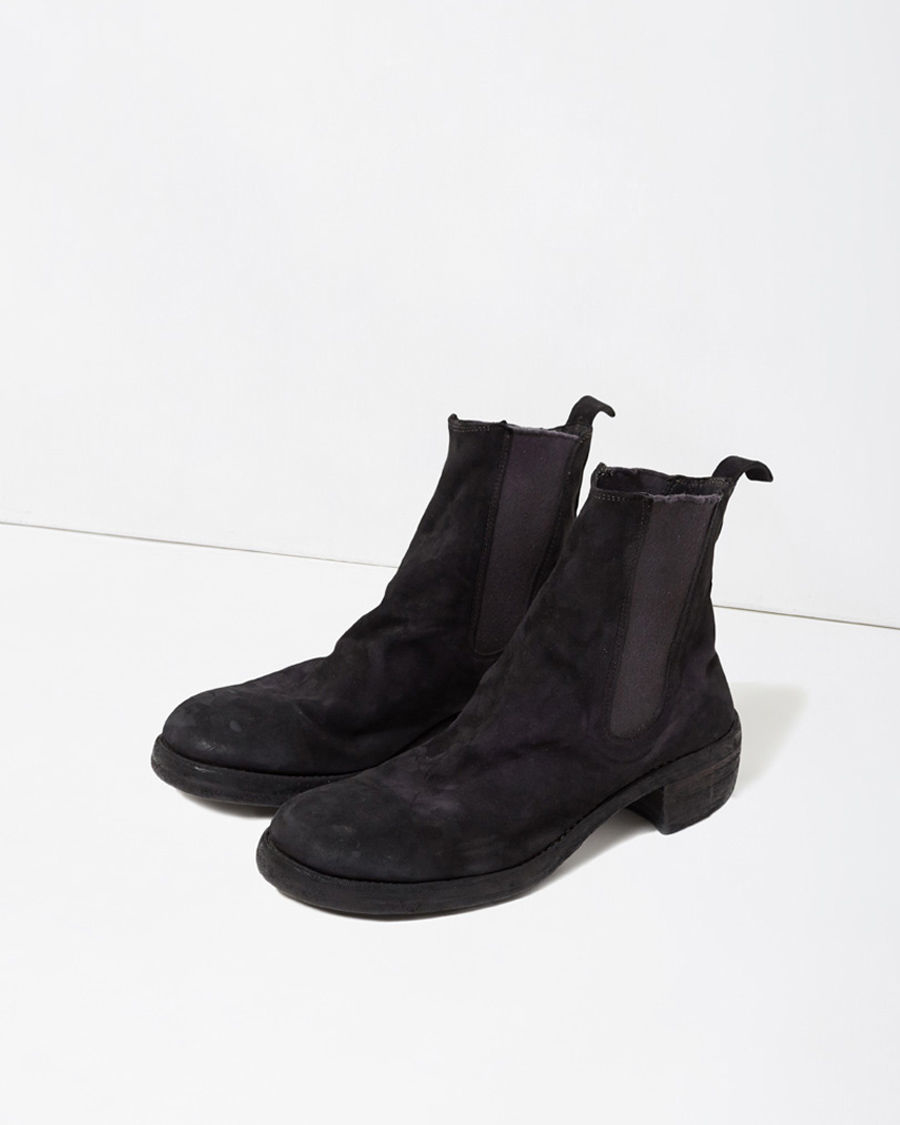 GUIDI Suede Chelsea Boots in .