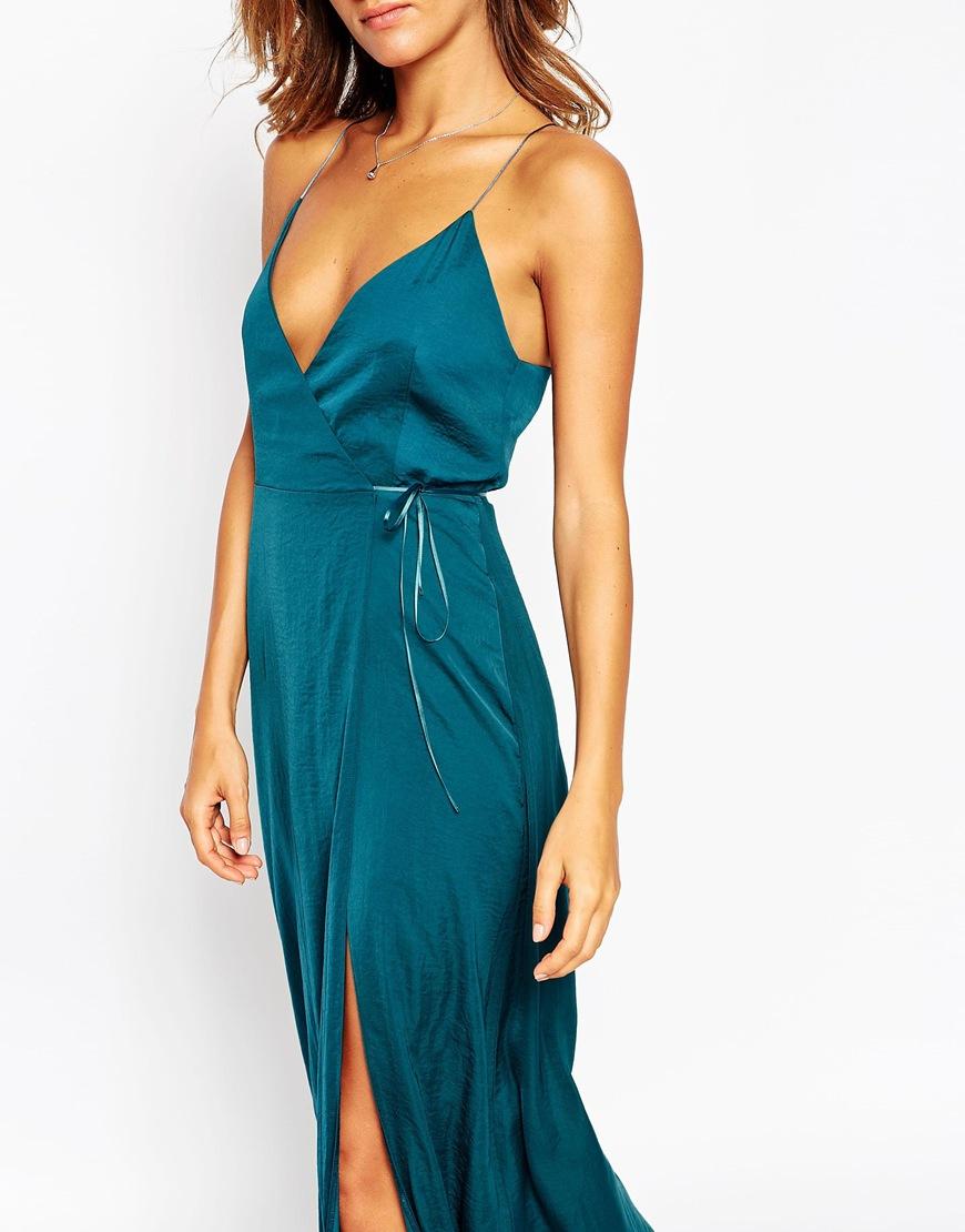 Asos emerald maxi dress