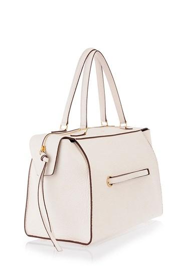 C¨¦line White Leather \u0026#39;Ring\u0026#39; Medium Tote Bag in White   Lyst