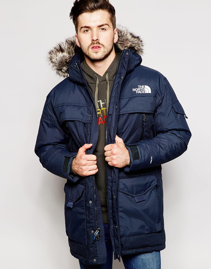 lyst the north face mcmurdo 2 down parka in blue for men. Black Bedroom Furniture Sets. Home Design Ideas