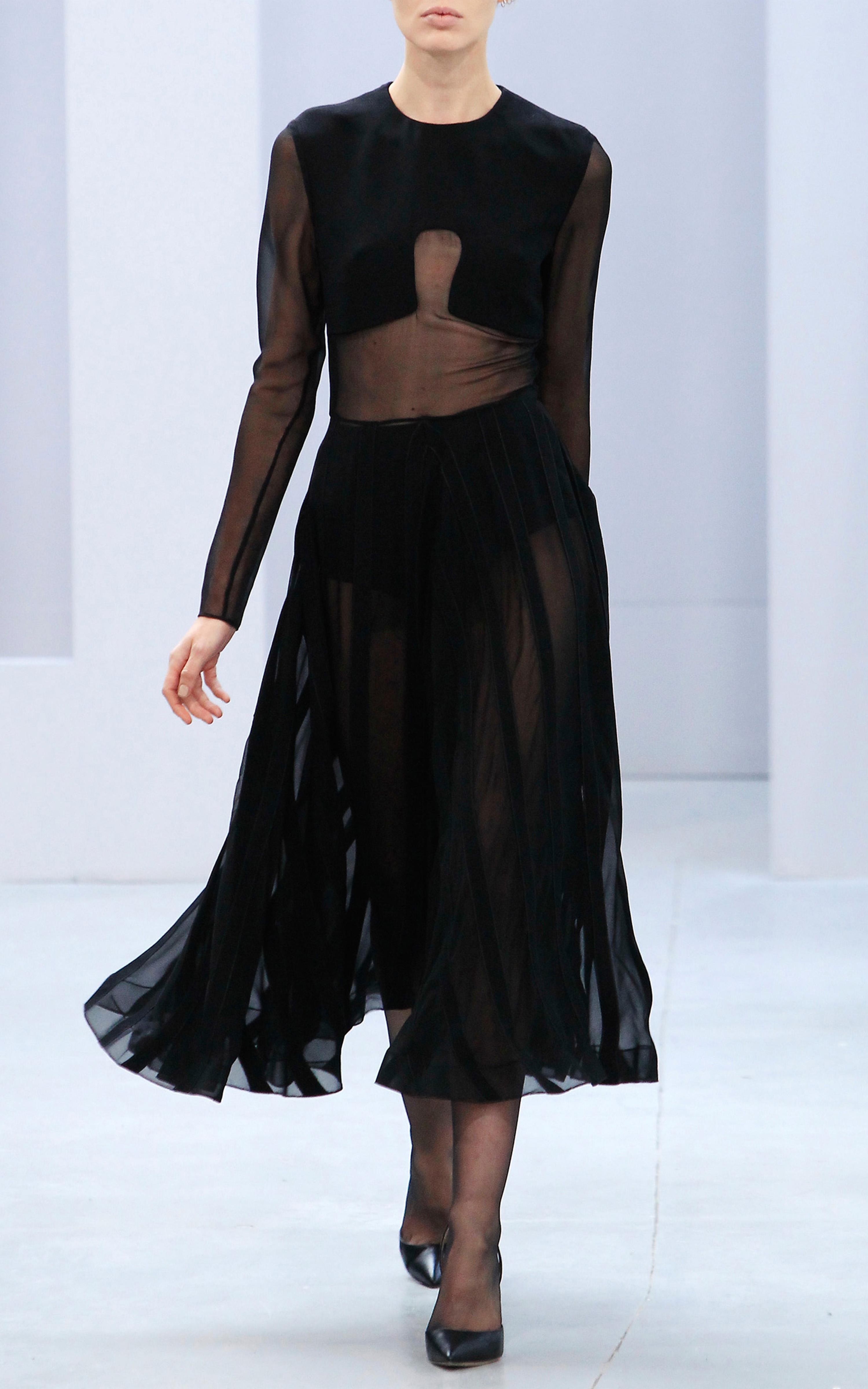 Lyst Barbara Casasola Black Silk Dress In Black