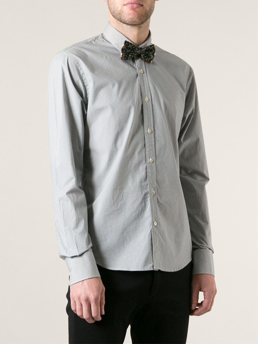 Lyst Scotch Soda Polka Dot Shirt With Bow Tie In Black