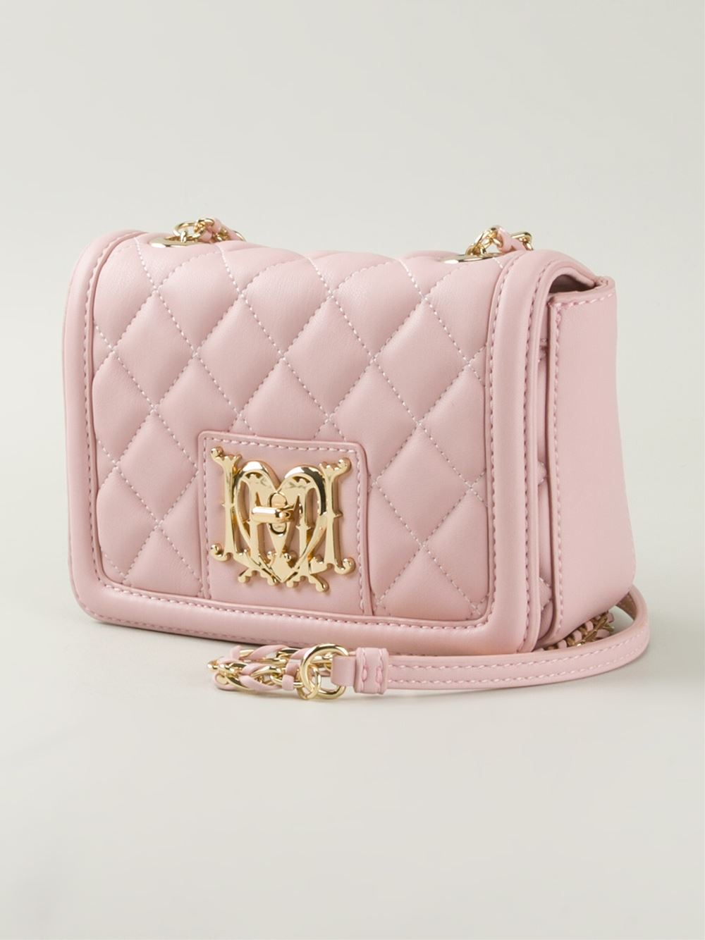 quilted shoulder bag - Pink & Purple Love Moschino iNCtP