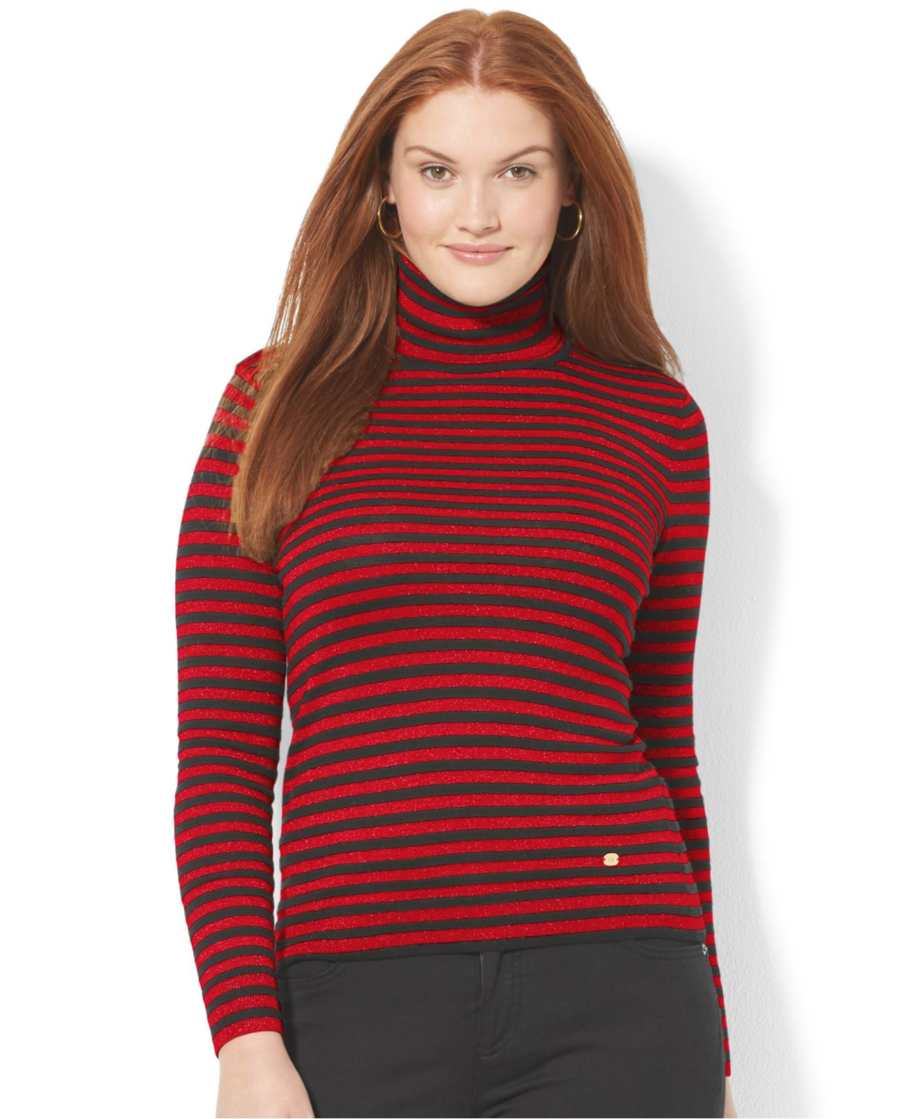 Lyst Lauren By Ralph Lauren Plus Size Metallic Striped