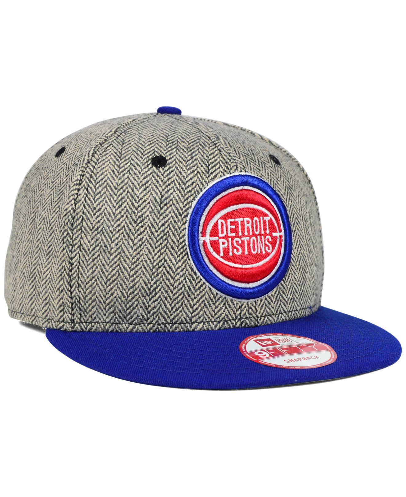 new product e396b 879d3 Lyst - KTZ Detroit Pistons Houndsteam Snapback Cap in Gray for Men