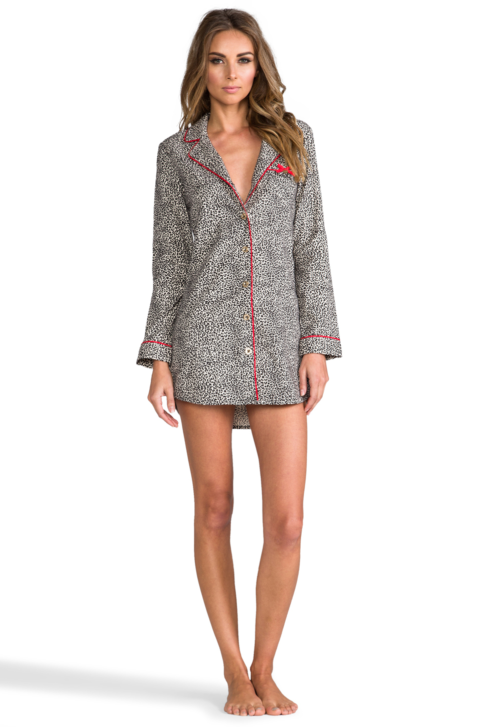 Lyst Juicy Couture Flannel Nightshirt In Black