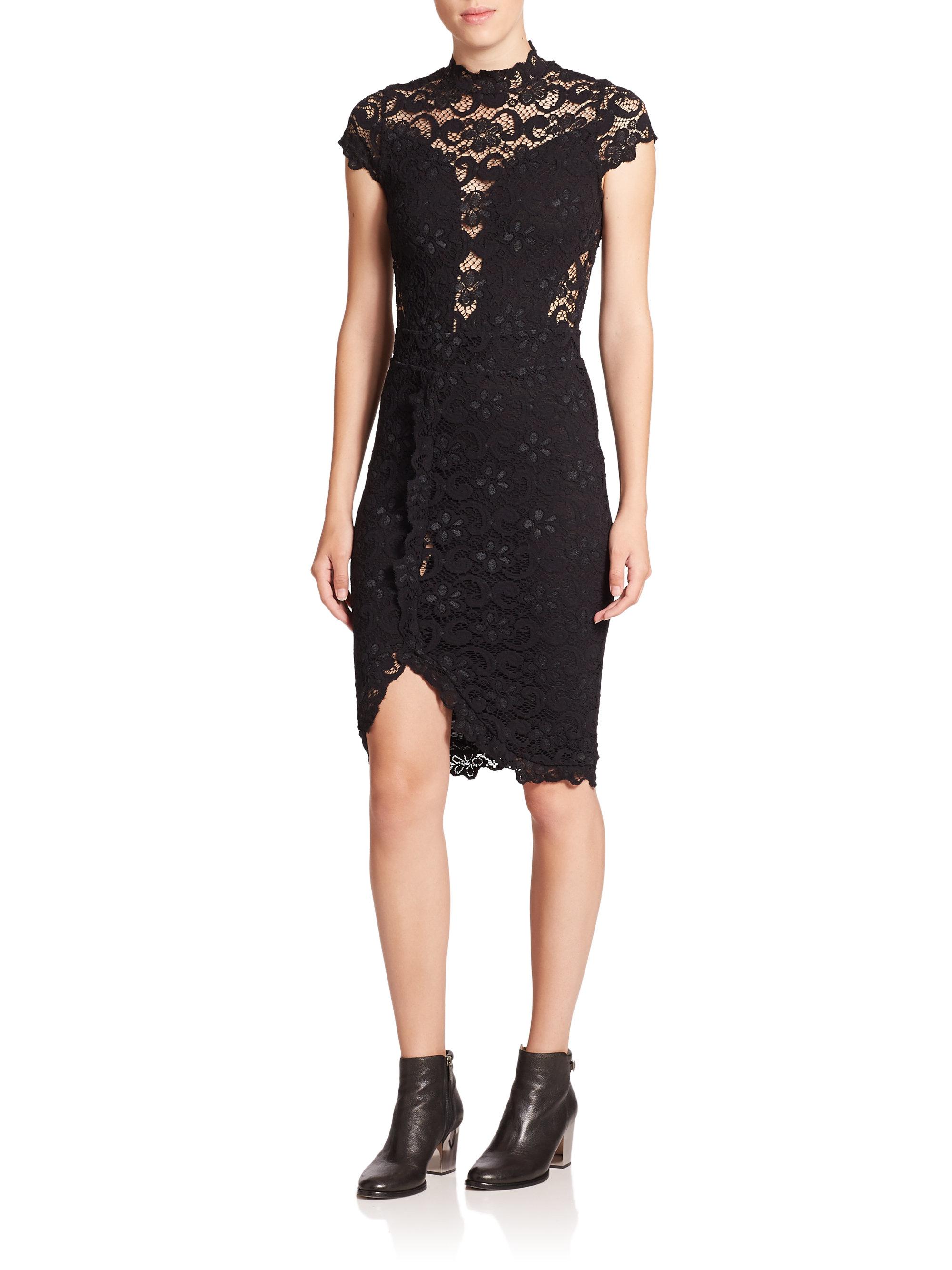 Lyst Nightcap 16th District Lace Dress In Black