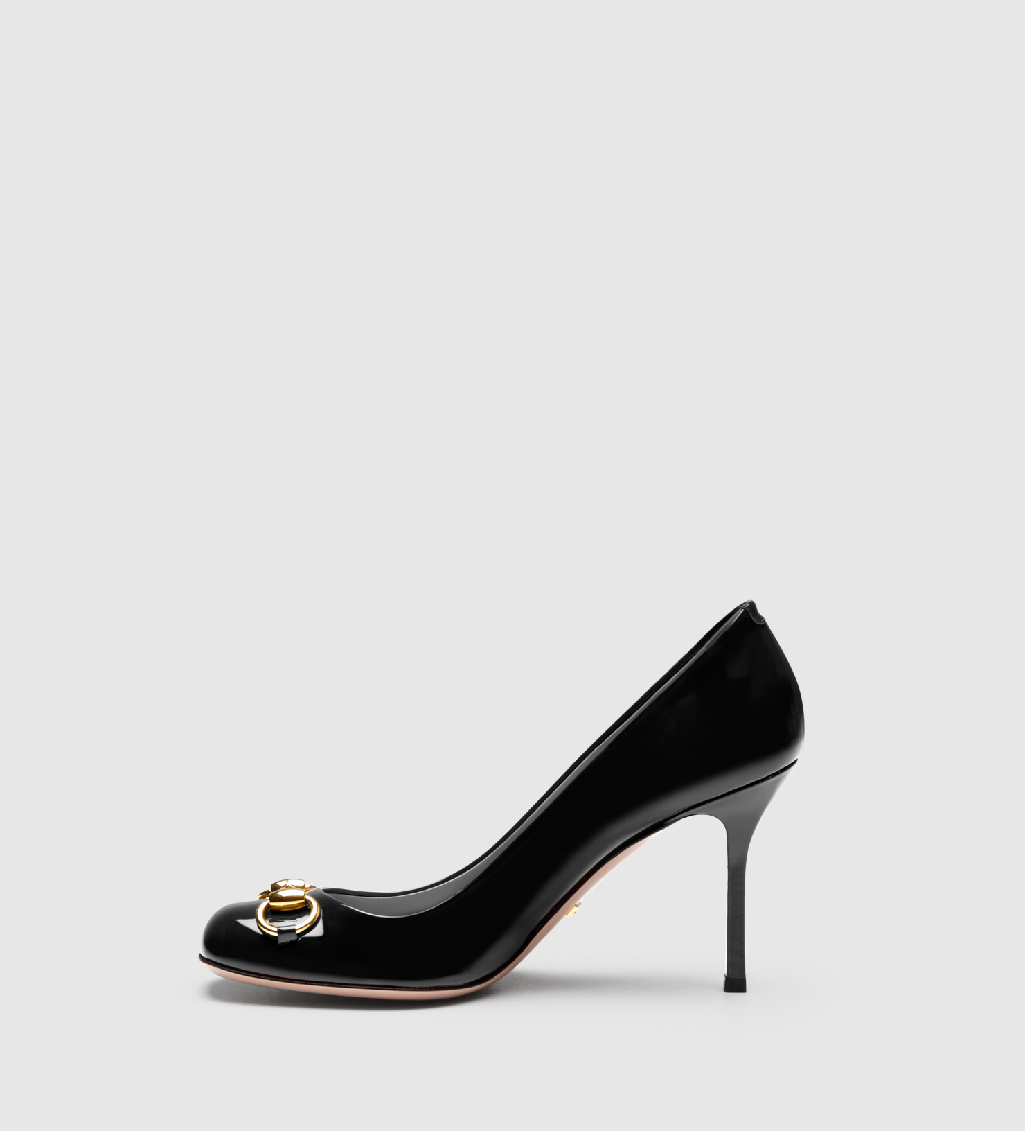 604cec70eed Gucci Jolene Patent Leather Mid-heel Pump in Black - Lyst