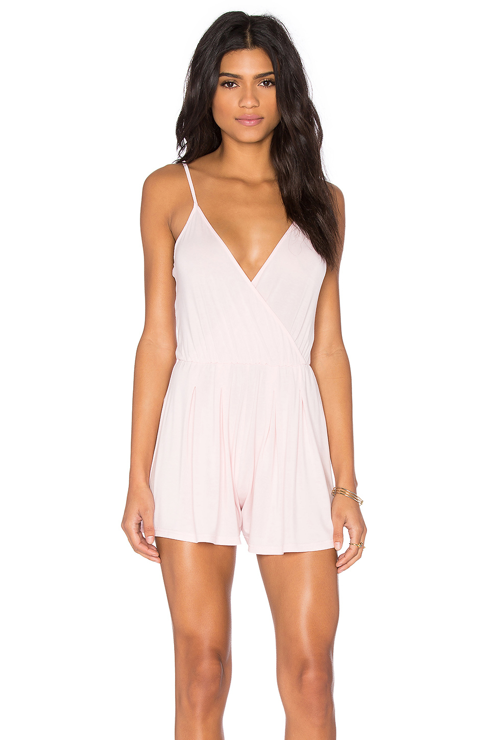 Blq basiq Sleeveless Romper in Pink | Lyst