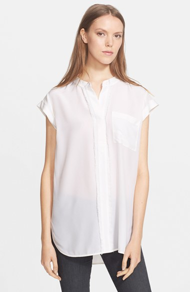 Off White Short Sleeve Blouse 21