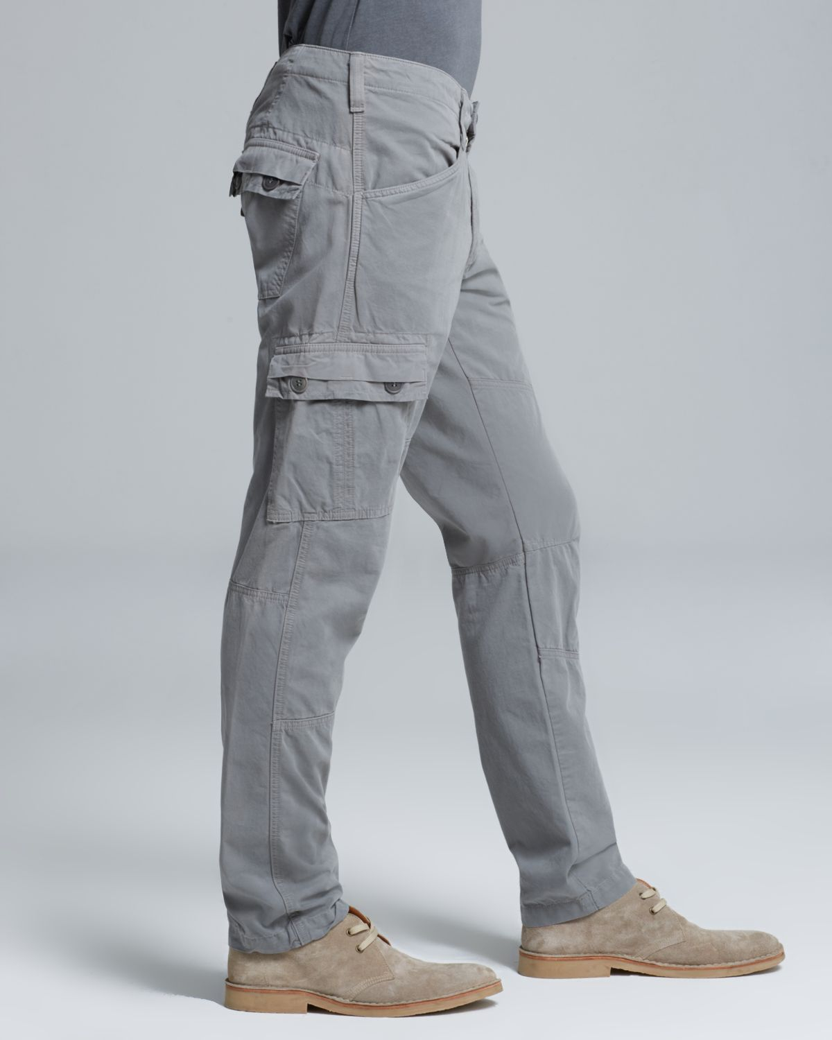 mens slim cargo pants - Pi Pants