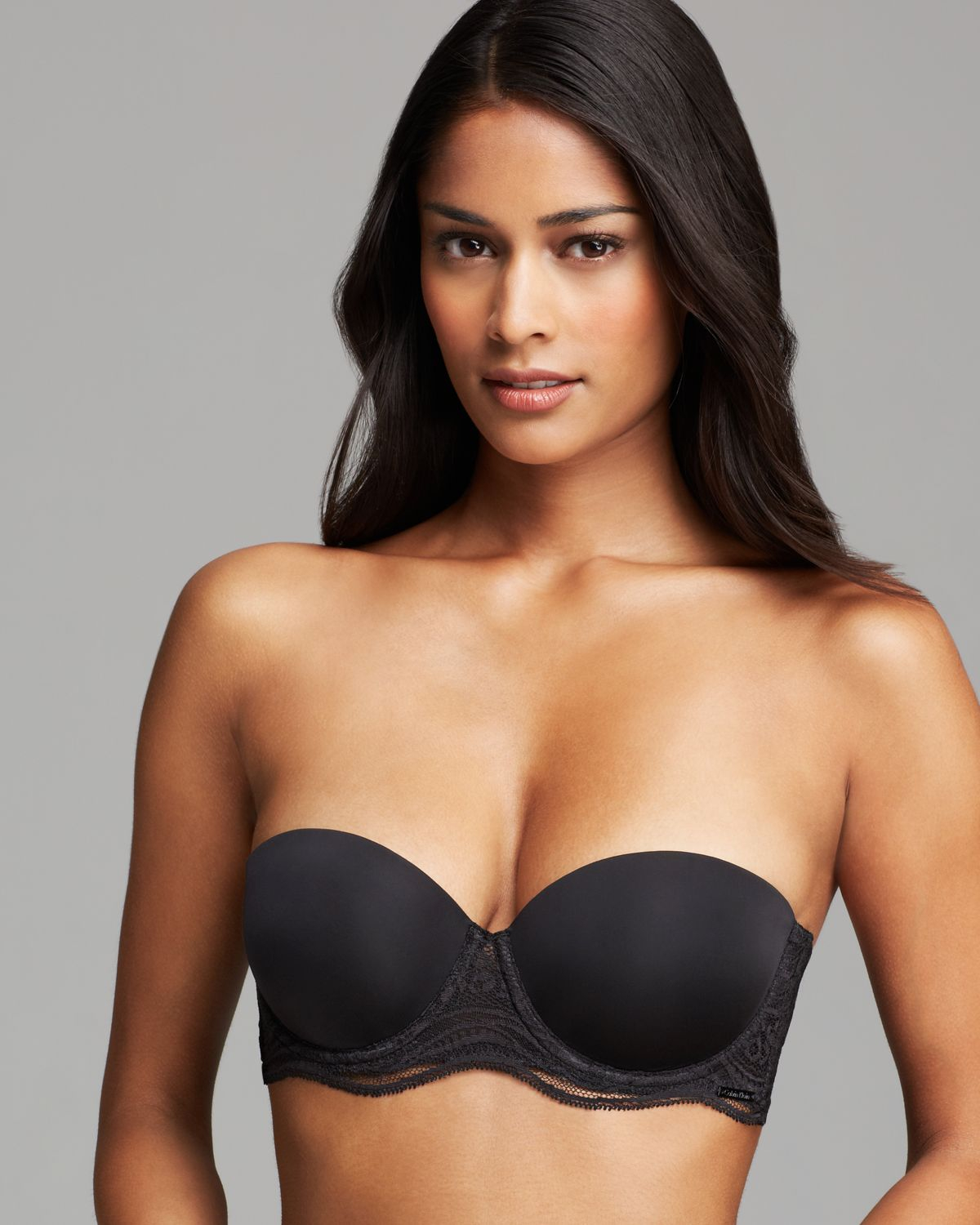 d85ea6fe74 Lyst - Calvin Klein Bra - Infinite Lace Multi Way Strapless Push Up ...