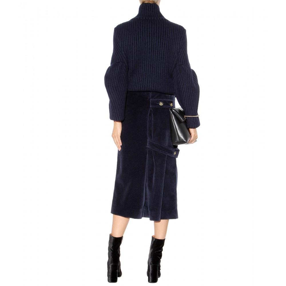 Blue Corduroy Skirt 78