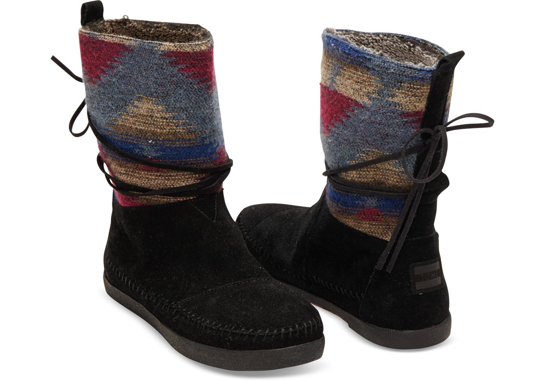 Lyst - Toms Black Wool Womenu0026#39;s Nepal Boots In Black