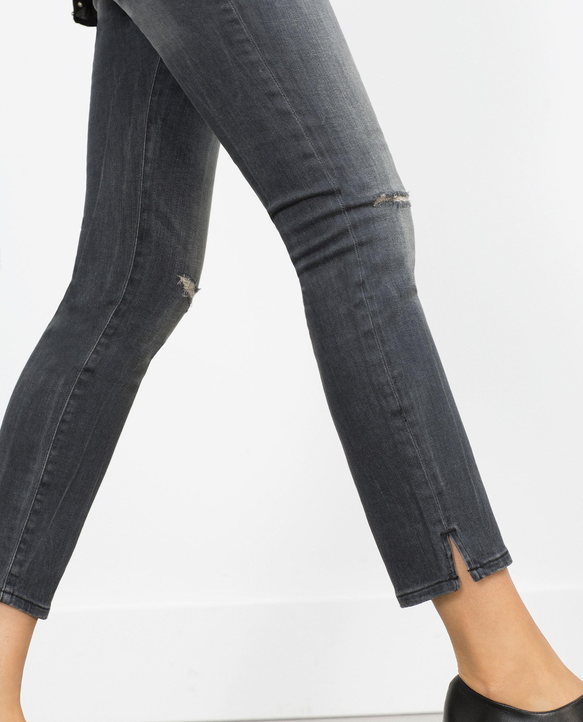 Zara Skinny Maternity Jeans in Gray | Lyst