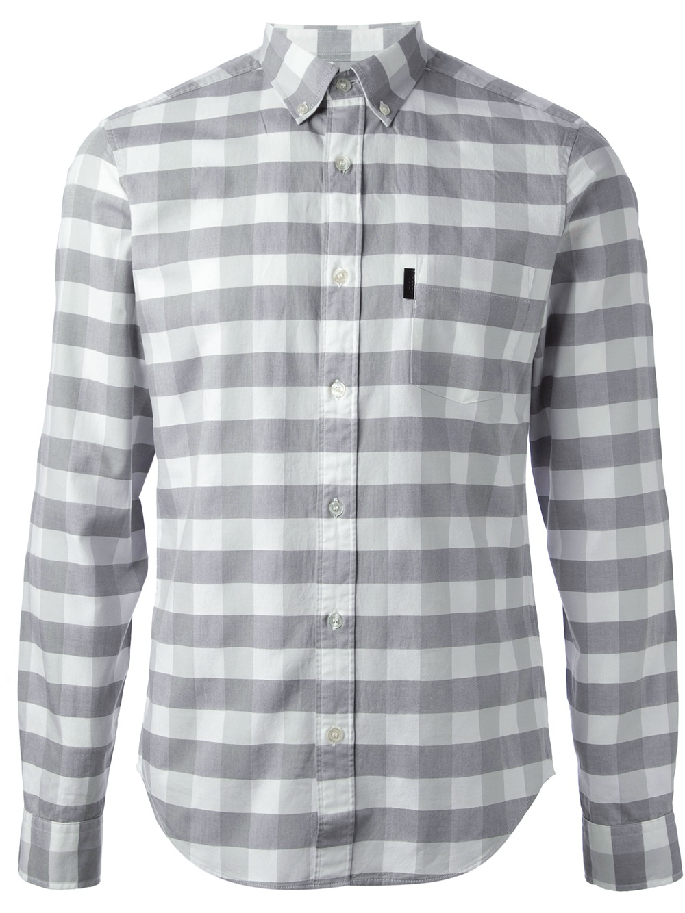 Burberry brit checked shirt in gray for men lyst for Burberry brit checked shirt