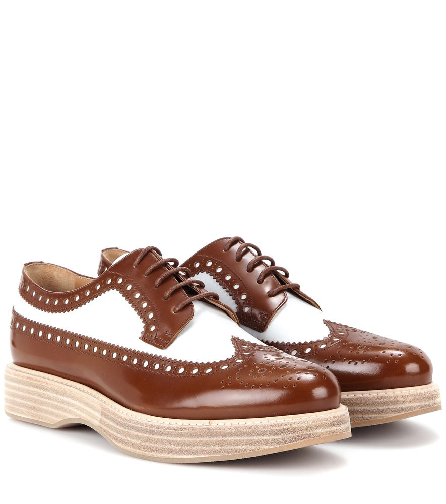0340cbe41e37 Lyst - Church s Opal Leather Platform Brogues in Brown