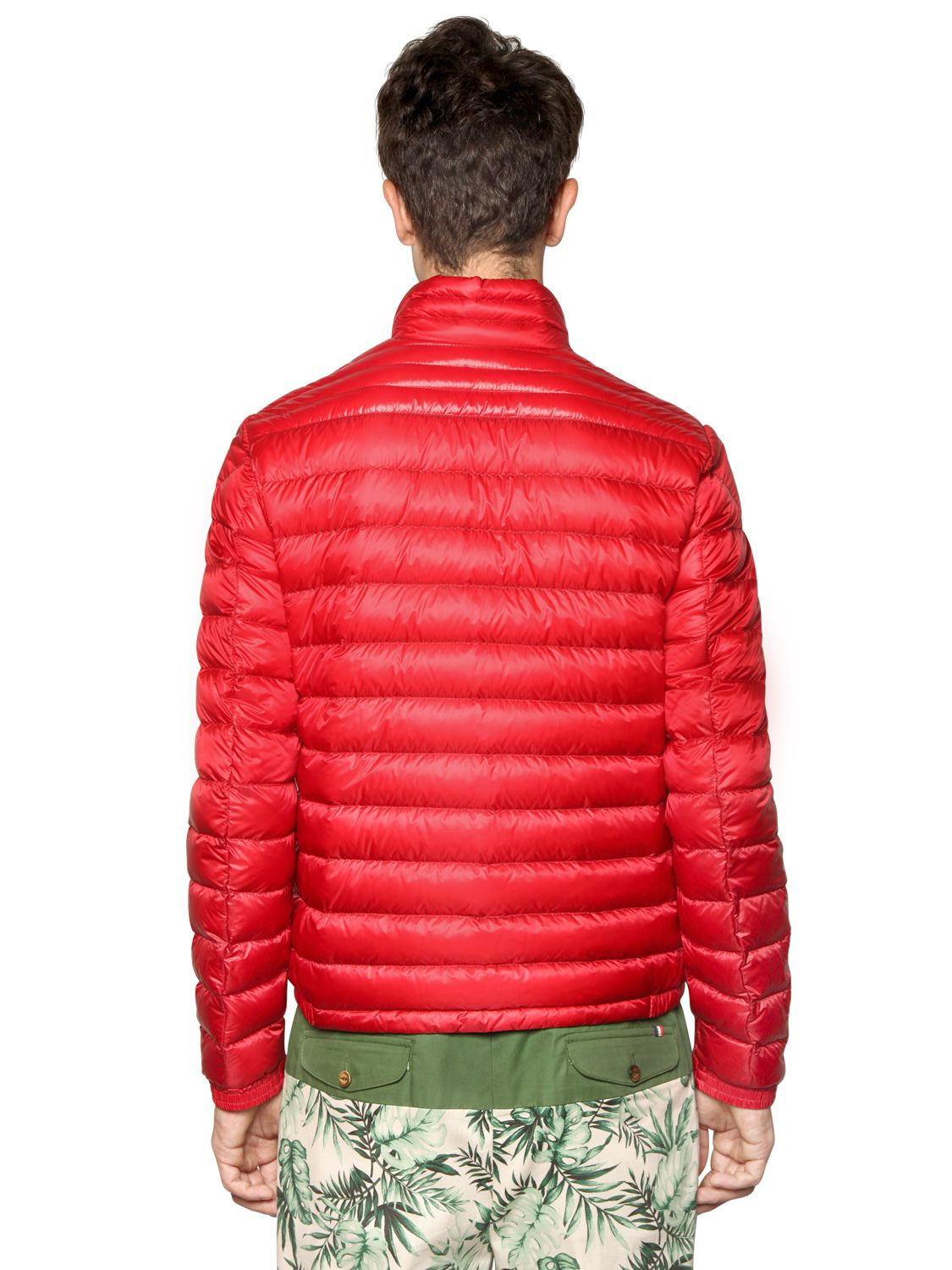 Moncler Daniel Nylon Light Weight Down Jacket In Red For