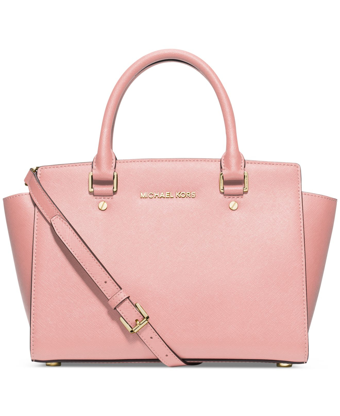 michael kors michael selma medium satchel in pink blossom. Black Bedroom Furniture Sets. Home Design Ideas