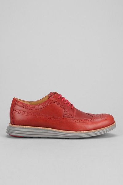 Cole Haan Lunargrand Long Wingtip Shoe in Red for Men (MAROON