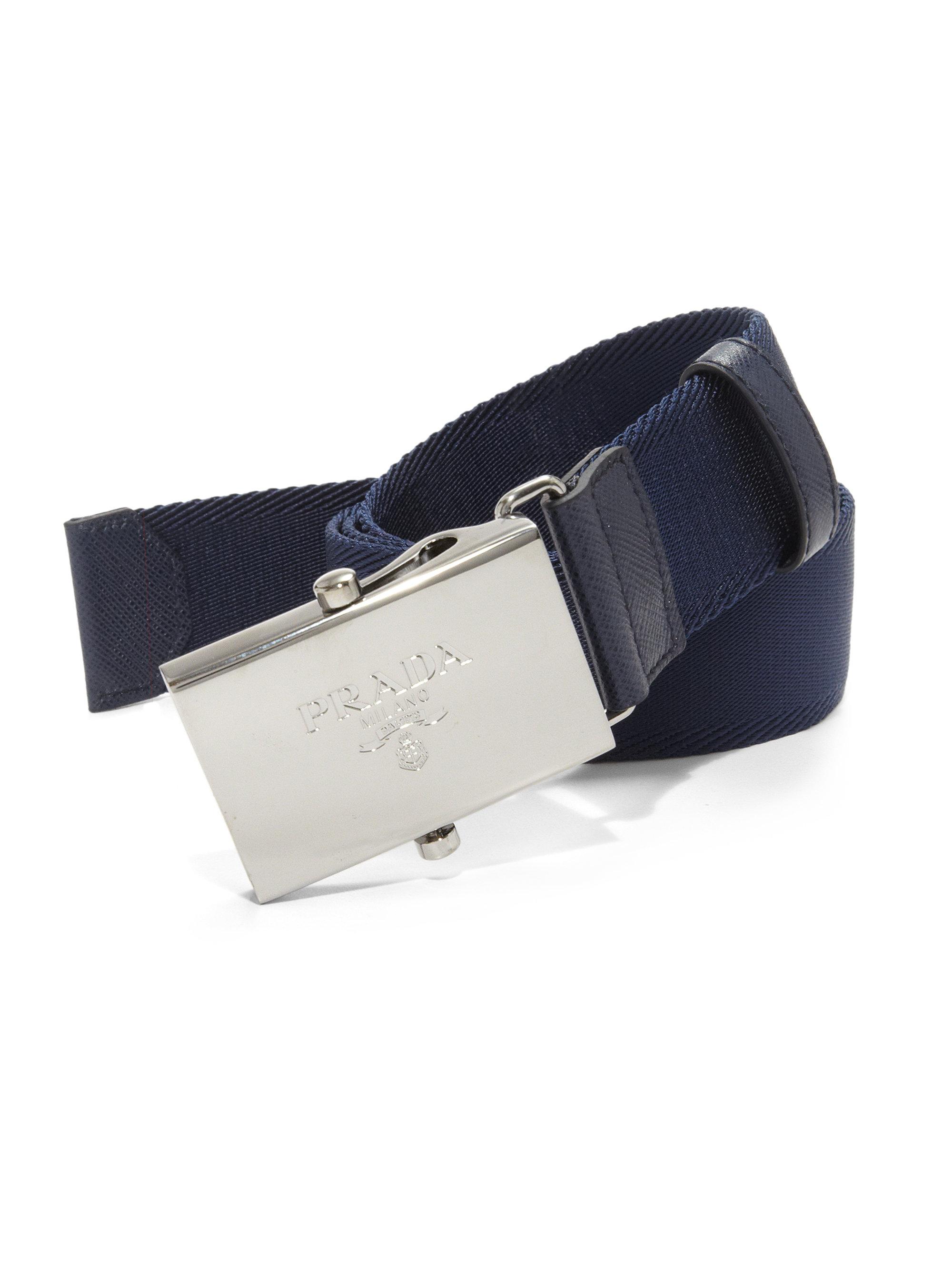 shopping prada black tessuto belt bag ace86 f0bfa  usa lyst prada nylon belt  in blue for men d099f a5f1c 0dd0bf0b960b7