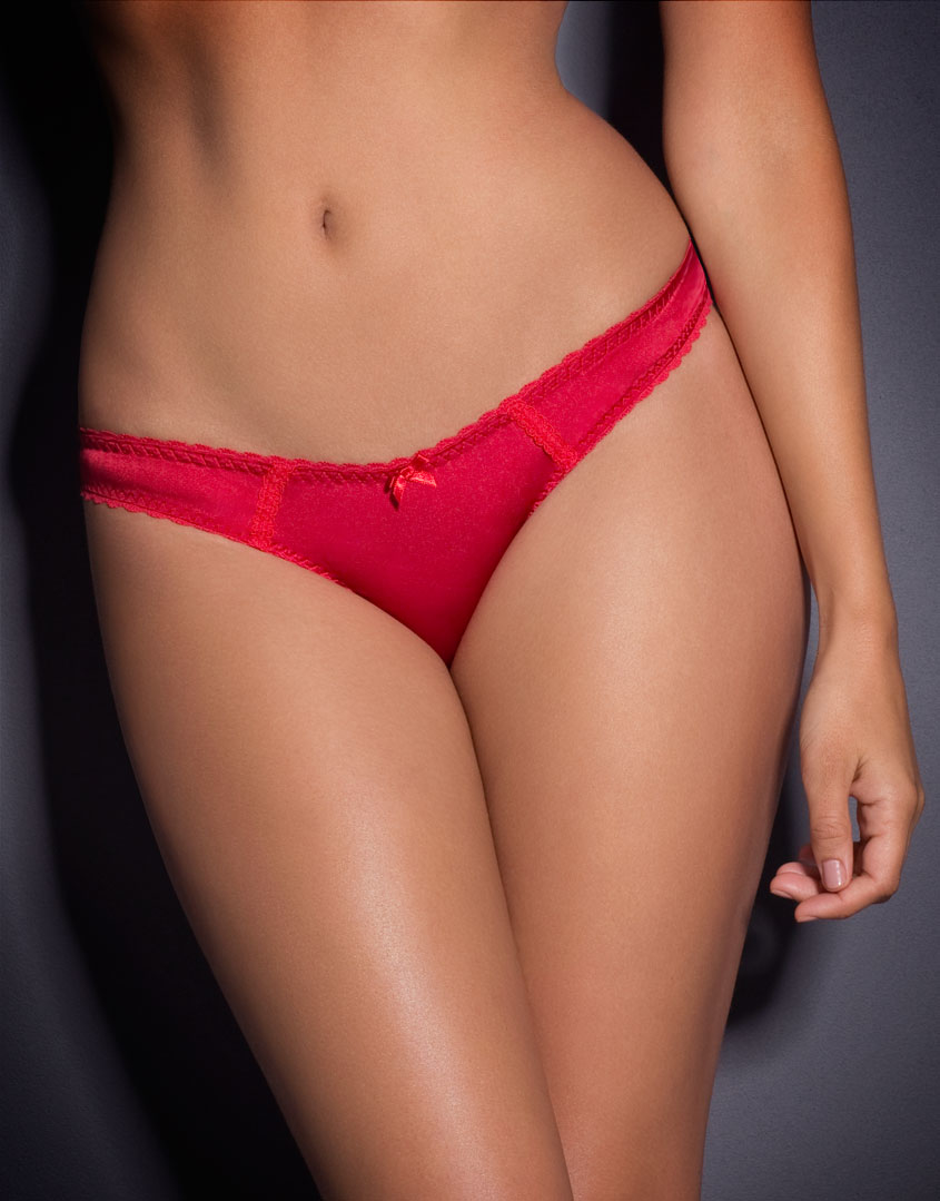 be88970ead Agent Provocateur Tammi Ouvert Red in Pink - Lyst